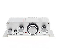 Mini Hi-Fi Stereo Amplifier for iPod MP3 Car Motorcycle Home DC 12V/2A Silver