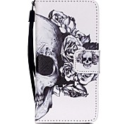 cheap -The New Skull Lanyard PU Leather Material Flip Card Cell Phone for iPod Touch 5/6