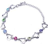 preiswerte -Damen Ketten- & Glieder-Armbänder Krystall Liebe Gelb Grün Blau Rosa Regenbogen Schmuck Für Hochzeit Party Alltag Normal 1 Stück