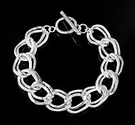 Noble Flash Twisting 925 Silver Sterling Chain & Link Bracelets For Woman&Lady