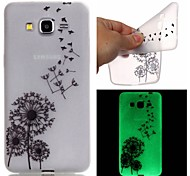cheap -Case For Samsung Galaxy Samsung Galaxy Case Glow in the Dark Pattern Back Cover Dandelion TPU for J3 J1 Ace Grand Prime Grand Neo Core