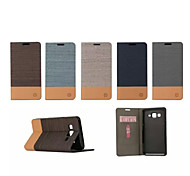 For Samsung Galaxy Case Card Holder / with Stand / Flip Case Full Body Case Solid Color PU Leather Samsung On 5 / J2 / J1 Ace / J1