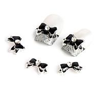 10pcs  Black Bow Nail Jewelry