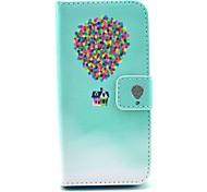 Цветной шар с рисунком дом искусственная кожа стенд крышку корпуса с слотом для карт iPhone 5 / 5s