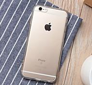 Недорогие -Для Кейс для iPhone 6 / Кейс для iPhone 6 Plus Прозрачный Кейс для Задняя крышка Кейс для Один цвет Мягкий TPUiPhone 6s Plus/6 Plus /