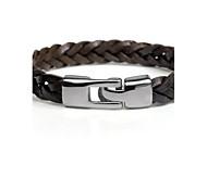 Муж. Ножной браслет Браслет Кожаные браслеты Ткань Мода Черный Коричневый Бронзовый Бижутерия 1шт