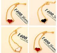 High quality Heart Shape Chain Bracelet(Black White Red)