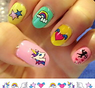 cheap -(20Pcs/Package) Nail Stickers Temporary Tattoos Stickers  Non Toxic Glitter Waterproof (Color Randomly)