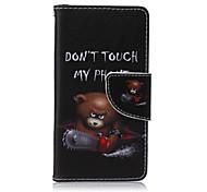 бензопилы медведь окрашены пу случай телефона для Sony Xperia Z5 компактный