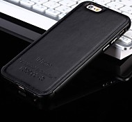 For iPhone 7 Plus The New Luxury Leather Back and Metal Frame Phone Case for iPhone 5 /5S