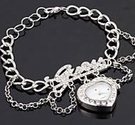 CZRhinestone Liebesherzform Legierung magische Kette Armbanduhr populären Frauen