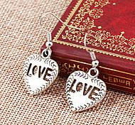 Недорогие -В форме сердца Серьги-слезки Бижутерия Женский Сердце Для вечеринок Повседневные Сплав 1шт