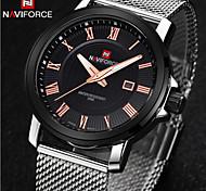 New Fashion Men Watches FullSteel Men's Quartz Hour Clock Analog Digital Watch Sports Military Wrist Watch Cool Watch Unique Watch