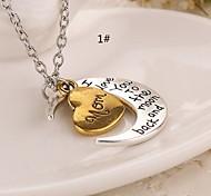 Ожерелье Ожерелья с подвесками Бижутерия Повседневные В форме сердца Сердце Первоначальные ювелирные изделия Медь 1шт Подарок