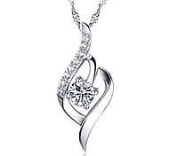 Недорогие -Жен. Стерлинговое серебро Кулоны  -  Серебряный Ожерелье Назначение Свадьба Для вечеринок Повседневные