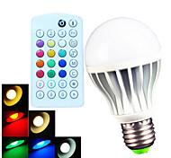 B22 E26/E27 Круглые LED лампы A60(A19) 15 SMD 5730 700 lm Тёплый белый Холодный белый Естественный белый RGB 2900~6500 К Диммируемая На
