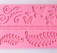 DIY силиконовый цветок торт плесень формы плесени формы для выпечки (случайный цвет)