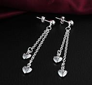 Недорогие -Серебрянное покрытие Сердце В форме сердца Серебряный Бижутерия