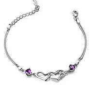 S925 Pure Stering Silver AAA Zircon Bracelet,Fine JewelryImitation Diamond Birthstone