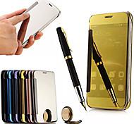 Недорогие -Для Кейс для Huawei Зеркальная поверхность / Флип Кейс для Чехол Кейс для Один цвет Твердый Акрил Huawei