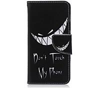 Für LG Hülle Kreditkartenfächer / Geldbeutel / mit Halterung / Flipbare Hülle Hülle Handyhülle für das ganze Handy Hülle Schwarz & Weiß