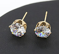 cheap -Women's Korean Style New Fashion Cute Zircons Crystal Earring