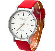 cheap -Women's Wrist watch Fashion Watch Quartz Large Dial PU Band Vintage Black White Red Brown