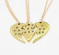Недорогие -Ожерелье Ожерелья с подвесками Бижутерия Свадьба Для вечеринок Повседневные В форме сердца Сердце Сплав Женский 1шт Подарок