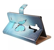 For LG Case Card Holder / Wallet / with Stand / Flip / Pattern Case Full Body Case Butterfly Hard PU Leather LG