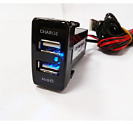 Display a LED Auto MP3 modulatore FM 1 porta USB Solo caricabatterie DC 5V/2A