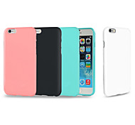 cheap -Case For Apple iPhone 8 iPhone 8 Plus iPhone 6 iPhone 6 Plus iPhone 7 Plus Shockproof Back Cover Solid Color Soft TPU for iPhone 8 Plus