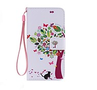 Cat and Tree Painted PU Phone Case for Galaxy Grand Prime G530/Xcover 3 G388F/Core Prime G360/J7/J5/J1
