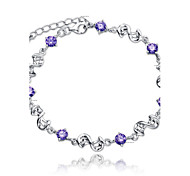 S925 Pure Stering Silver AAA Zircon Bracelet,Fine JewelryImitation Diamond Birthstone Gifts