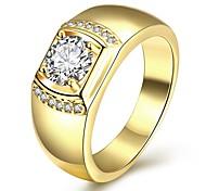 Недорогие -горячий эля желтое золото finih 925 Ilver кольцо Терлинге для мужчин с 6x8mm овальным кубический оксид циркония ювелирные изделия