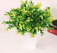cheap -1 Branch Plastic PU Plants Tabletop Flower Artificial Flowers