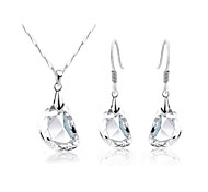 cheap -Women's Crystal Jewelry Set - Crystal Unique Design, Simple Style, Elegant Include Drop Earrings / Pendant Necklace For Wedding / Party / Birthday