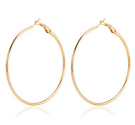 cheap -Women's Hoop Earrings Crystal Statement Jewelry Fashion European Gold Plated 18K gold Circle Jewelry Party Daily Casual Costume Jewelry