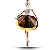 Недорогие -2016 новая горячая красивая принцесса балерина брошь / изысканные броши побрякушки камень брошь / балет девушка модные аксессуары