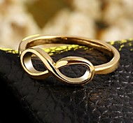 High Quality Gold Plated Infinity Ring Endless Love Symbol Wholesale Fashion Rings For Women