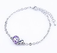 Jewelry Sale Good Quality Crystal Heart Bracelet For Woman Bracelets & Bangles Factory Price
