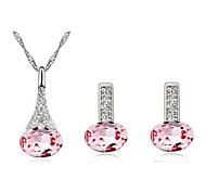 cheap -Women's Crystal Alloy Wedding Party Birthday Engagement Gift Daily Casual Earrings Necklaces Costume Jewelry