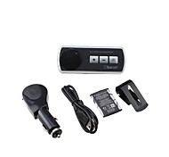Bluetooth Handsfree Car Kit Clipped On Car Sun Visor, Bluetooth 3.0 Can Support Two Phones Simultaneously