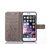 cheap -Case For Apple iPhone X iPhone 8 iPhone 5 Case iPhone 6 iPhone 6 Plus iPhone 7 Plus iPhone 7 Card Holder Wallet with Stand Flip Pattern