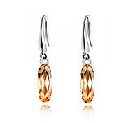 Luxury Austria Crystal Drop Earrings for Women Long Earrings Fashion Jewelry Accessories Silver Plated
