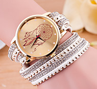 Women's Fashion Watch Bracelet Watch Quartz Leather Band Black White Blue Red Green Pink Purple Rose
