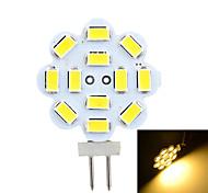 Недорогие -G4 Двухштырьковые LED лампы Утапливаемое крепление 12 светодиоды SMD 5730 Декоративная Тёплый белый Холодный белый 200-300lm 3500/6500K