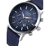 cheap -Men's Quartz Wrist Watch Calendar / date / day / Cool Leather Band Fashion Black / White / Blue