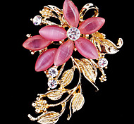 cheap -Women's Cute Crystal / Cubic Zirconia / Opal Brooches - Party / Work / Casual White / Pink Brooch For Wedding / Party / Special Occasion