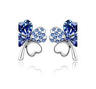 cheap -Women's Crystal Stud Earrings - Cute Style Green Blue Pink Earrings For Wedding Party Daily