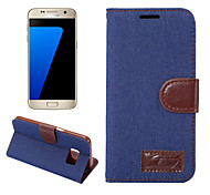 For Samsung Galaxy S8 Plus S7 Edge S6 Edge Plus Case Cover Denim Mobile Phone Holster for S5 Mini S4 Mini Active S3